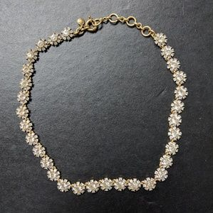 J. Crew Crystal Necklace w/ Gold Chain